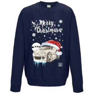Premium Koolart Christmas Santa Hat Design & MX5 Roadster car gift Sweatshirt Jumper